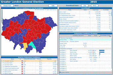 London Datastore - 2015 us election results map