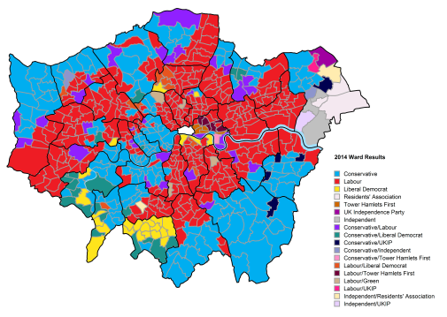 Map Of Uk Votes 2015.Borough Council Election Results 2014 London Datastore